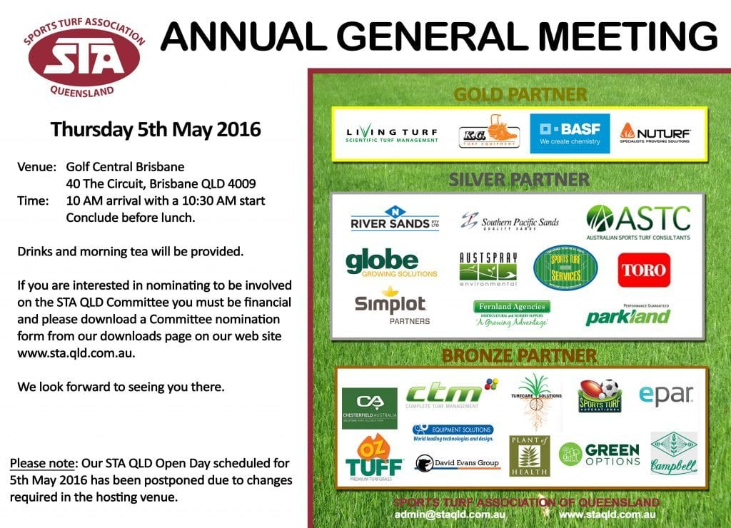STA QLD AGM - 5 May 2016